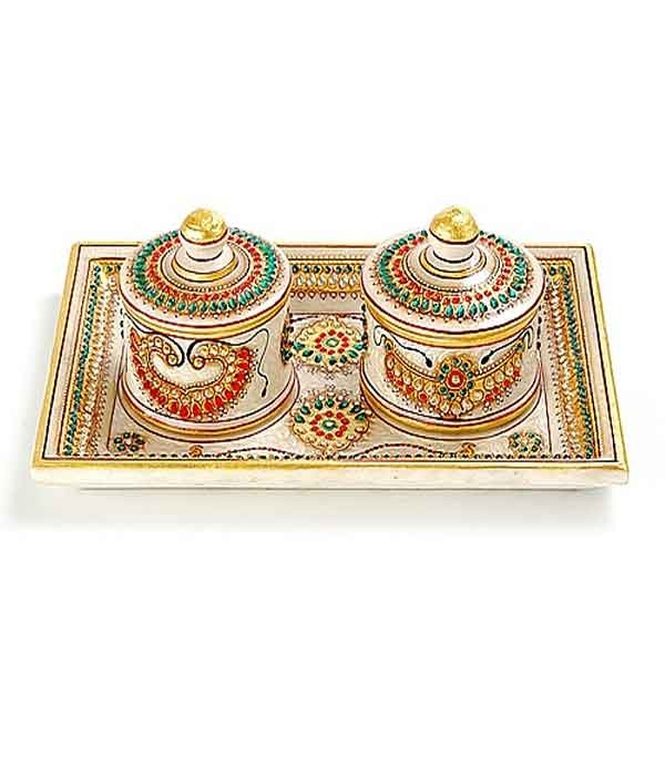 DI- Marvel In Marble -Tray With Containers-044  .