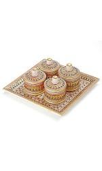 DI- Marvel In Marble - Tray With Containers-045  .