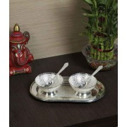 DI- Silver plated Dessert Serving Set .