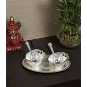 DI- Silver plated Dessert Serving Set  .