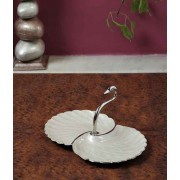 DI- Polished Silver Plated brass Sawn Tray  .