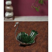 DI- Silver Plated Brass Swan Tray .