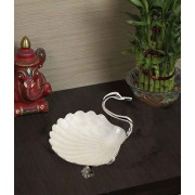 DI- Handcrafted Silver Plated Brass Swan Bowl  .