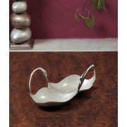 DI- Twin Swan Multi utility Bowl with Enamel work  .