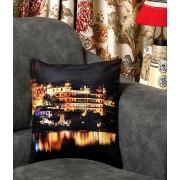 DI- City Palace of Jaipur Velvet Cushion Cover .
