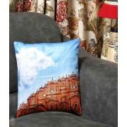 DI- Hawa Mahal of Jaipur Velvet Cushion Cover .