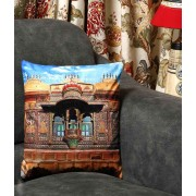 DI- Royal City Palace of Udaipur Velvet Cushion Cover .