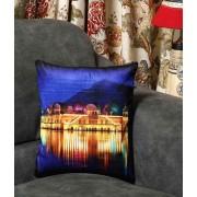 DI- Jal Mahal Palace of Jaipur Velvet Cushion Cover .