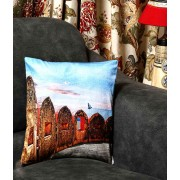 DI- Jaigarh Fort of Jaipur Velvet Cushion Cover  .
