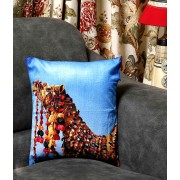 DI- Rajasthani Race Camel Velvet Cushion Cover .