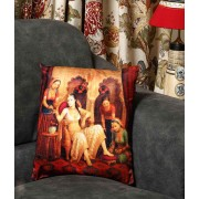 DI- Rajwada Queen Velvet Cushion cover .