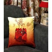 DI- Rajasthan storm Velvet Cushion cover .