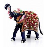 DI- Handpainted Enamelled Metal Elephant_15  .