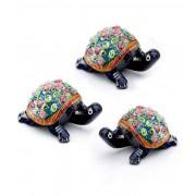 DI- Handpainted Enamelled Metal Tortoise Set_17  .