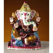 DI- Hand Painted Enamelled Metal Siddhi Vinayak  .
