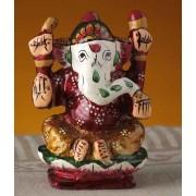 DI- Kshipra Ganapati Hand Painted Enamelled Metal .