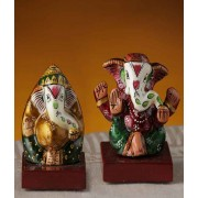 DI- Hand Painted Enamelled Metal Ganeshji .