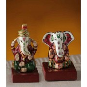 DI- Bhakti Ganesh Murtis made in Enamelled Metal .