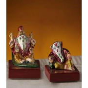 DI- Enamelled Metal Hand Painted Ganesh Murti  .