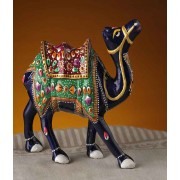 DI- Camel with Hand Painted work in Enamelled Metal .