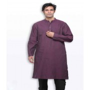 DI- Byzantium Purple Handloom Cotton long Kurta  .