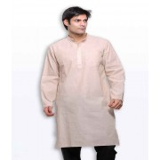 DI- Handloom Cotton Kurta with Long Sleeves .