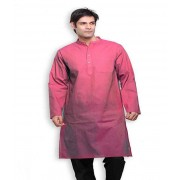 DI- Thulian Pink Handloom Cotton long Kurta  .