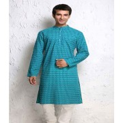 DI- Block Printed Pure Cotton Kurta  .