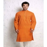 DI- Pure Cotton Kurta with Block Print .