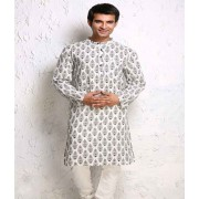 DI- DIamond Design Block Print Cotton Kurta .