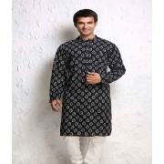 DI- Tear Drop Block Print Cotton Kurta .
