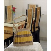 DI- Cane Design Shaded Bag Of Recycled Jute .