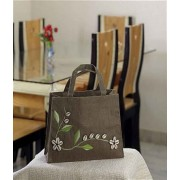DI- Beautifully Hand Embroidered Flower Design Bag .