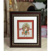 DI- Gold Painted Lord Ganesh Hanging  .