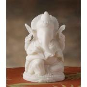 DI- Divine Ganapati Statue made in Rajastani White Marble .