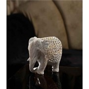 DI- Carved stone Elephant showpiece  .