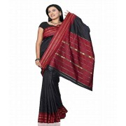 DI- Silk Saree with Zari Lining Pallu and border  .