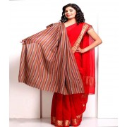 DI- Multicolour Striped Pashmina shawl with a Fringe  .