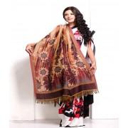 DI- Bohemian-Inspired Soft Pashmina shawl with Fringe Edges  .