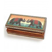 DI- Real Gem Stone Jewellery Box 009  .