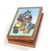 DI- Real Gem Stone Jewellery Box 011  .